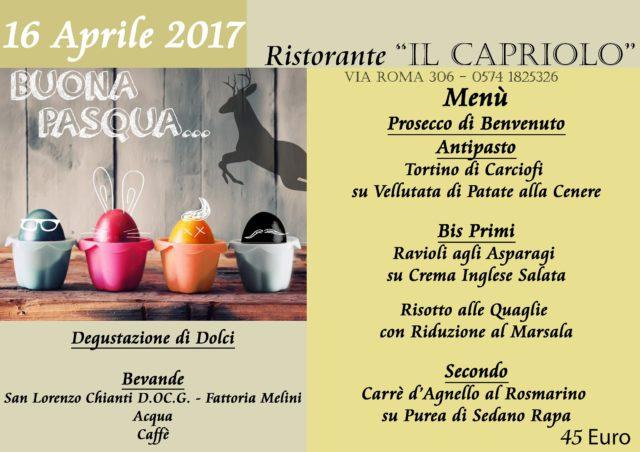 Ristorante Prato pranzo Pasqua 2017